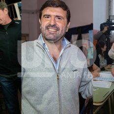 Día de elecciones. Jatón, Pereira y Castelló, cuando sufragaron en la jornada de hoy.