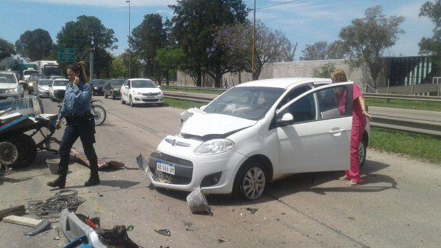 Violento choque en la Avenida de la Constitución. VIDEO
