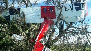 Hallazgo. El avión fue encontrado en un campo ubicado a 1.500 metros de la ruta 70.