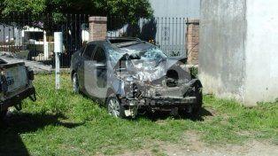 Este es el auto involucrado en el accidente.