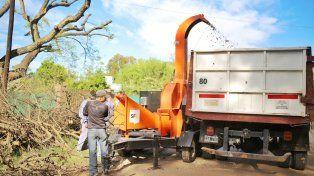 El Municipio adquirió una chipeadora para procesar ramas y restos de poda