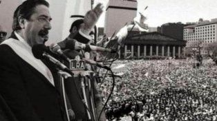 Diferentes homenajes al cumplirse 34 años de las elecciones presidenciales que ganó Raúl Alfonsín