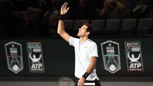 Del Potro avanzó a los cuartos de final en el Masters de París