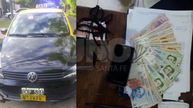 Detuvieron a un violento delincuente que asaltó a un taxista