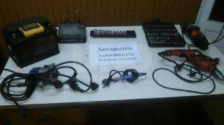 Aprehendieron a un ladrón y secuestraron las herramientas robadas en un taller