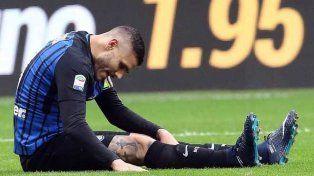 Icardi fue desafectado de la Selección por una lesión en su rodilla