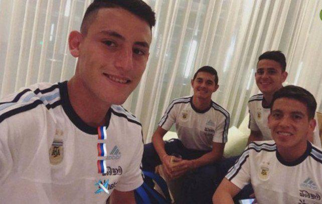 La foto del día: Tomi Chancalay entrenando con Leo Messi en Rusia