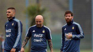 Sampaoli: Entiendo que si Icardi no vino es porque no estaba en condiciones