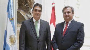 el ministro farias recibio al embajador suizo