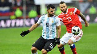 Agüero, tercer goleador histórico de la Selección Argentina