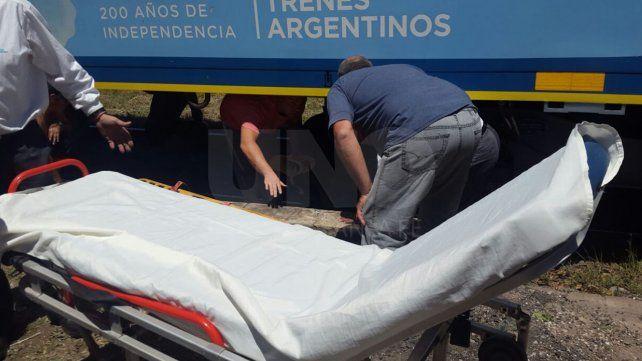 Murió un hombre que fue arrollado por una formación ferroviaria