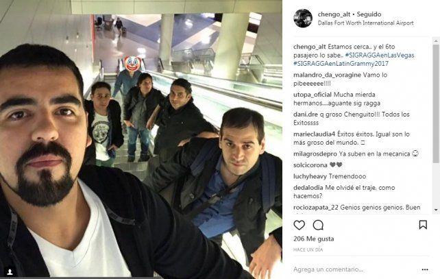 Sig Ragga llegó a Las Vegas y se prepara para actuar en los Latin Grammy