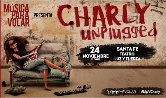 Música para Volar presenta Charly Unplugged en Luz y Fuerza