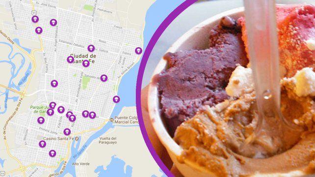 El mapa de La noche de las heladerías: dónde encontrar los descuentos