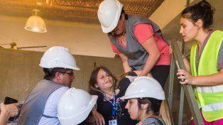 Realizaron un simulacro de emergencia en altura en Ciudad Universitaria
