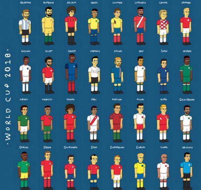 Los 32 capitanes de las selecciones según Los Simpsons