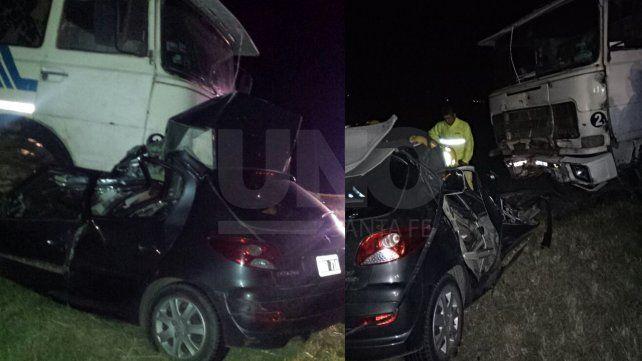 Murió un automovilista en un choque frontal con un camión en el sur provincial