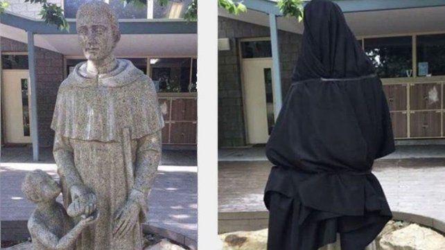 Polémica en una escuela católica por una estatua sugestiva