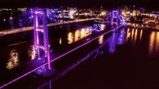 Para visibilizar la lucha contra la violencia hacia las mujeres el Puente se teñirá de violeta