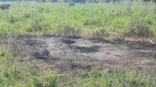 Norte de la ciudad. El auto fue encontrado quemado en calle 12 de Infantería al 6500.