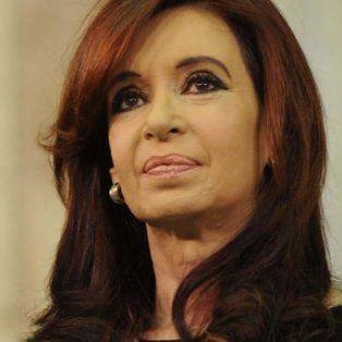 La expresidenta Cristina Fernández de Kirchner, actual senadora nacional.