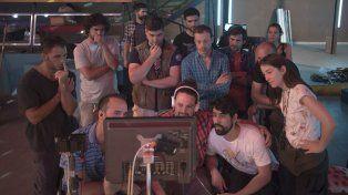 Conformes. Agustín Falco afirma que los resultados del proceso artístico son los esperados por el equipo de trabajo.