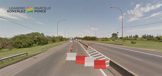 Ruta 168: proponen colocar barreras móviles para mejorar el tránsito