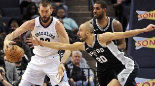 Gran noche de Manu Ginóbili en el triunfo de los Spurs