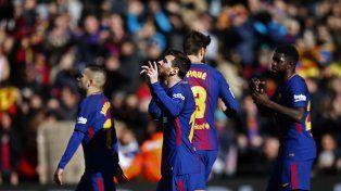 Messi hizo un gol, dio una asistencia pero le erró a la cámara en el festejo