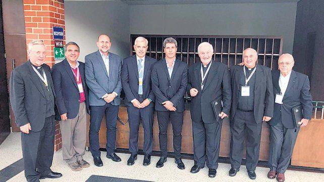 Perotti participó de un encuentro para políticos impulsado por el Vaticano