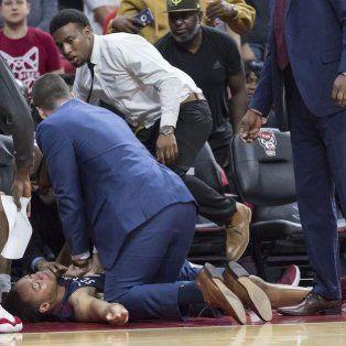 imagenes fuertes: un basquetbolista sufrio un infarto en pleno partido