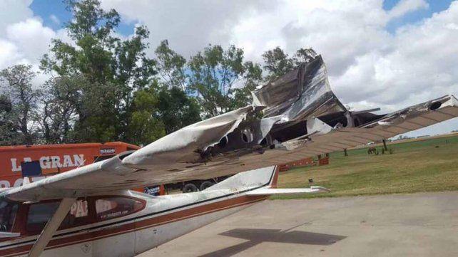 Di Palma sufrió un accidente en su avión y salvó su vida de milagro