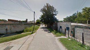 El lugar. El crimen ocurrió en las inmediaciones de Lamadrid y Pasaje Cervantes.