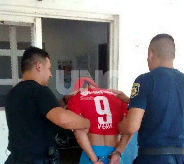 El golpeador fue detenido en Santo Tomé