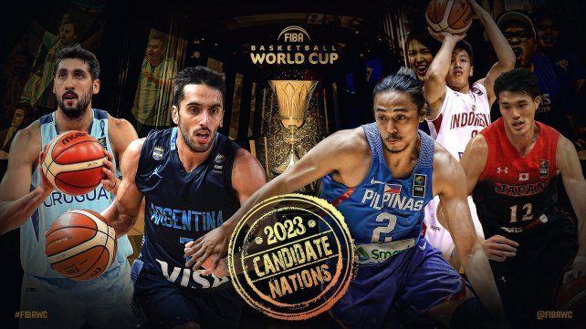 Argentina y Uruguay van por la organización del Mundial de básquet 2023