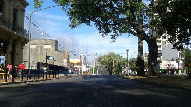 Hay cortes en distintos puntos de la ciudad