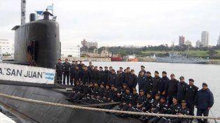 Se conoció la última foto de la tripulación completa del submarino