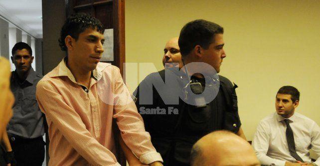 Preso. El día en que Pelado llegó a la Sala 1 de tribunales para ser juzgado.