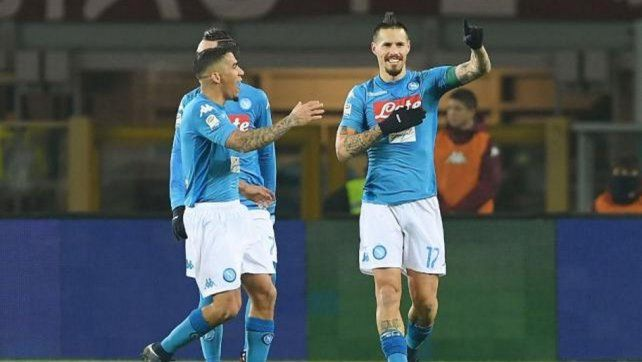 Hamsik alcanzó a Diego y Napoli es el único líder del Calcio