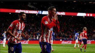Atlético Madrid quedó a tres puntos del Barcelona