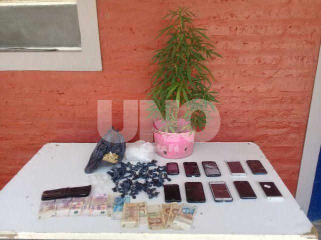 San Justo: Allanamientos con un detenido y el secuestro de cocaína, marihuana, un arma y dinero