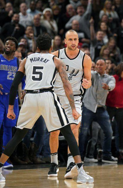 Manu Ginóbili se volvió a vestir de héroe en el triunfo de los Spurs