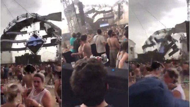 Un DJ murió aplastado por un escenario a causa de una fuerte tormenta. VIDEO