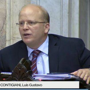 contigiani cruzo al diputado olmedo y a cambiemos por no debatir las tarifas