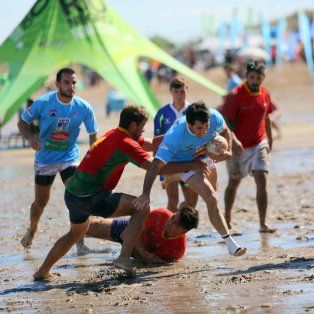 santa fe participo de los juegos de playa