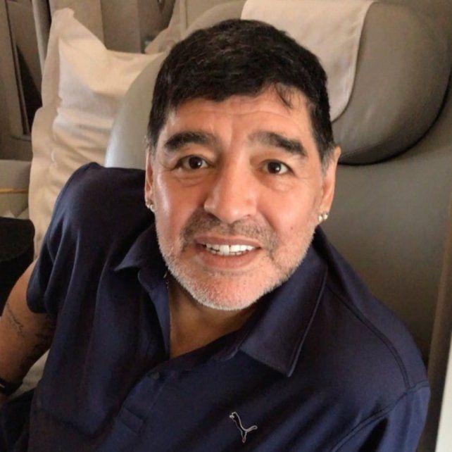 Maradona la deja chiquita en Instagram