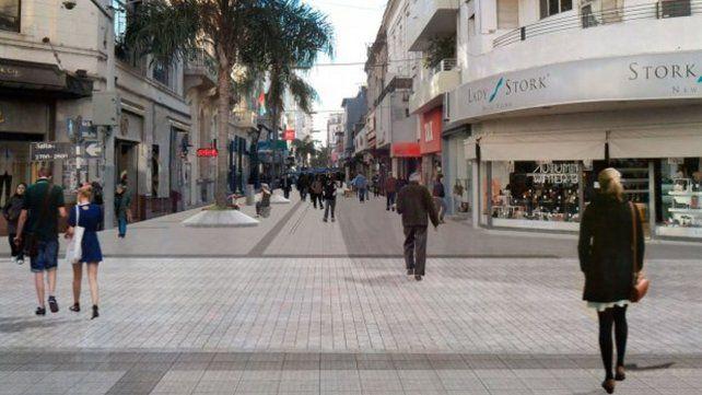 Se licitan las obras de remodelación para seis cuadras de la Peatonal San Martín