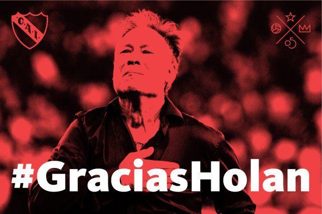 Independiente despidió en sus redes sociales a Ariel Holan