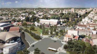 Mojora. Dentro del plan para avenida Freyre está la eliminación de la rotonda frente al Club Unión