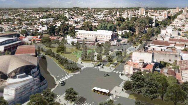 Cambio. Una de las obras comprenderá la remodelación de la intersección de BulevarPellegrini con avenida Feyre (rotonda del Club Unión).